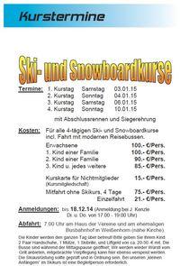 SkiUndSnowboardkurse2015